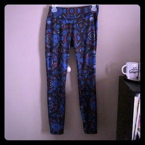 Purple blue leggings